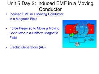 Unit 5 Day 2: Induced EMF in a Moving Conductor