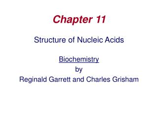 Structure of Nucleic Acids  Biochemistry by Reginald Garrett and Charles Grisham