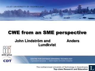 CWE from an SME perspective