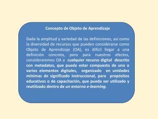 Concepto de Objeto de Aprendizaje