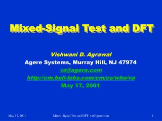 Mixed-Signal Test and DFT