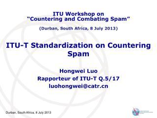 ITU-T Standardization on Countering Spam