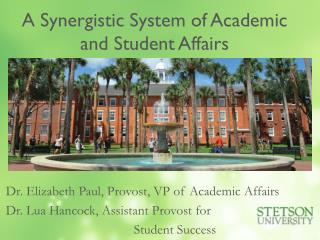 A Synergistic System of Academic and Student Affairs
