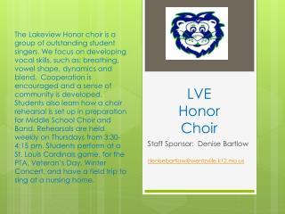 LVE  Honor Choir