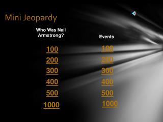 Mini Jeopardy