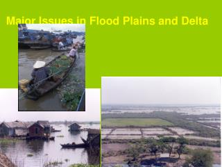 Major Issues in Flood Plains and Delta