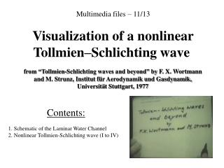 Multimedia files – 11/13 Visualization of a nonlinear Tollmien–Schlichting wave