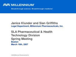 2006 Millennium Pharmaceuticals Inc.