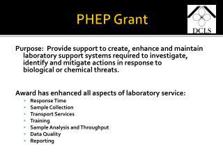 PHEP Grant