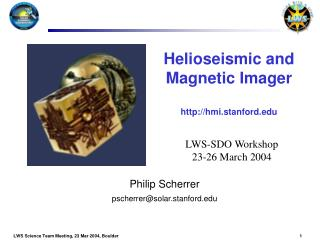 Helioseismic and Magnetic Imager hmi.stanford