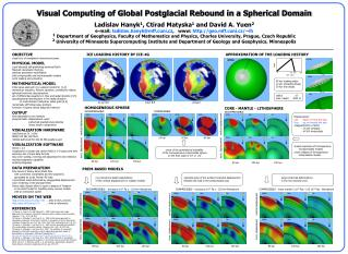 Visual Computing of Global Postglacial Rebound in a Spherical Domain