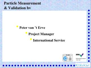 Particle Measurement & Validation bv