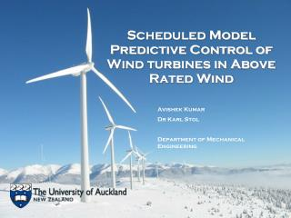 Scheduled Model Predictive Control of Wind turbines in Above Rated Wind