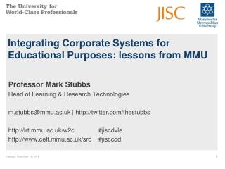 Integrating Corporate Systems for Educational Purposes: lessons from MMU