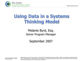 Using Data in a Systems Thinking Model