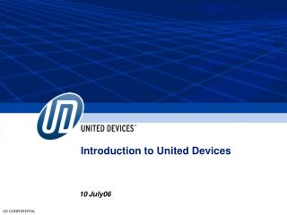 Introduction to United Devices