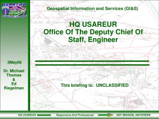 HQ USAREUR  Office Of The Deputy Chief Of Staff, Engineer