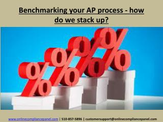 Benchmarking your AP process - how do we stack up?
