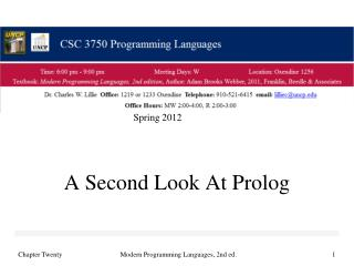 A Second Look At Prolog