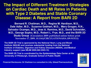 The Impact of Different Treatment Strategies on Cardiac Death and MI Rates in Patients with Type 2 Diabetes and Stable C