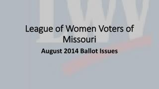 League of Women Voters of Missouri