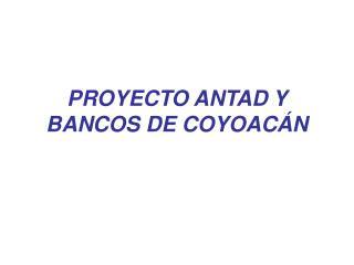PROYECTO ANTAD Y BANCOS DE COYOACÁN