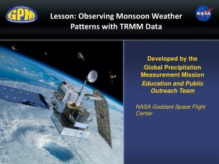 Lesson: Observing Monsoon Weather Patterns with TRMM Data