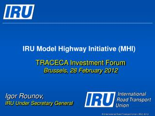 IRU Model Highway Initiative (MHI)