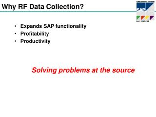 Why RF Data Collection?