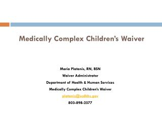 Medically Complex Children's Waiver