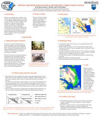 OPTIMAL STRATEGIES FOR ECOLOGICAL RESTORATION UNDER CLIMATE CHANGE
