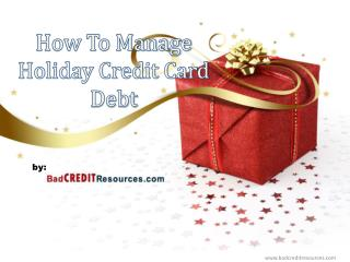 Tips On How To Control Holiday Credit Card Debt