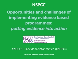 Better Outcomes for Children in Need  Evidence based commissioning