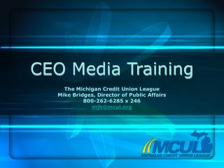 CEO Media Training