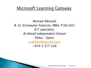 Microsoft Learning Gateway
