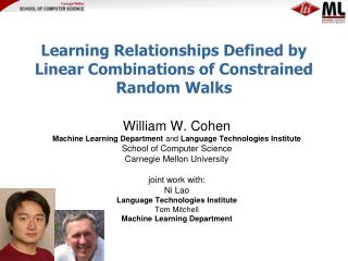 Learning Relationships Defined by Linear Combinations of Constrained Random Walks