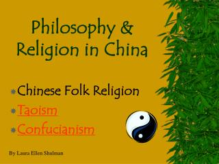 Philosophy & Religion in China