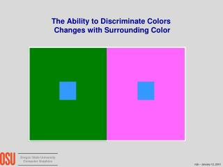 The Ability to Discriminate Colors  Changes with Surrounding Color