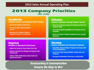 2013 Sales Annual Operating Plan