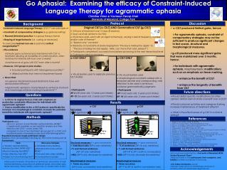 Participants  were Broca�s aphasic as per Western Aphasia Battery (WAB) 14
