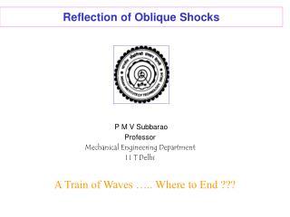 Reflection of Oblique Shocks