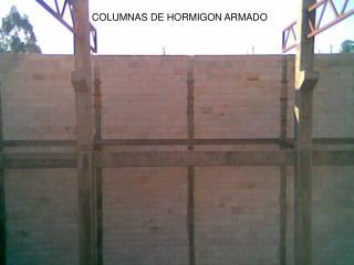 COLUMNAS DE HORMIGON ARMADO