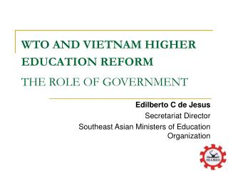 WTO AND VIETNAM HIGHER EDUCATION REFORM THE ROLE OF GOVERNMENT