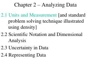 Chapter 2 � Analyzing Data