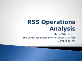 RSS Operations Analysis