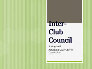 Inter-Club Council