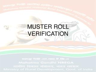 MUSTER ROLL VERIFICATION