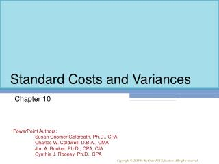 Standard Costs and Variances
