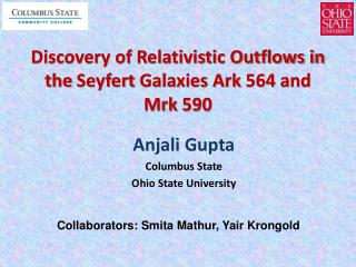 Discovery of Relativistic Outflows in the  Seyfert  Galaxies Ark 564 and  Mrk  590