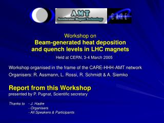 Held at CERN, 3-4 March 2005 Workshop organised in the frame of the CARE-HHH-AMT network